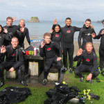 The team finishing their qualifying dives at Mathesons Bay.