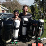 Liz and Christian completing their Prism 2 rebreather course