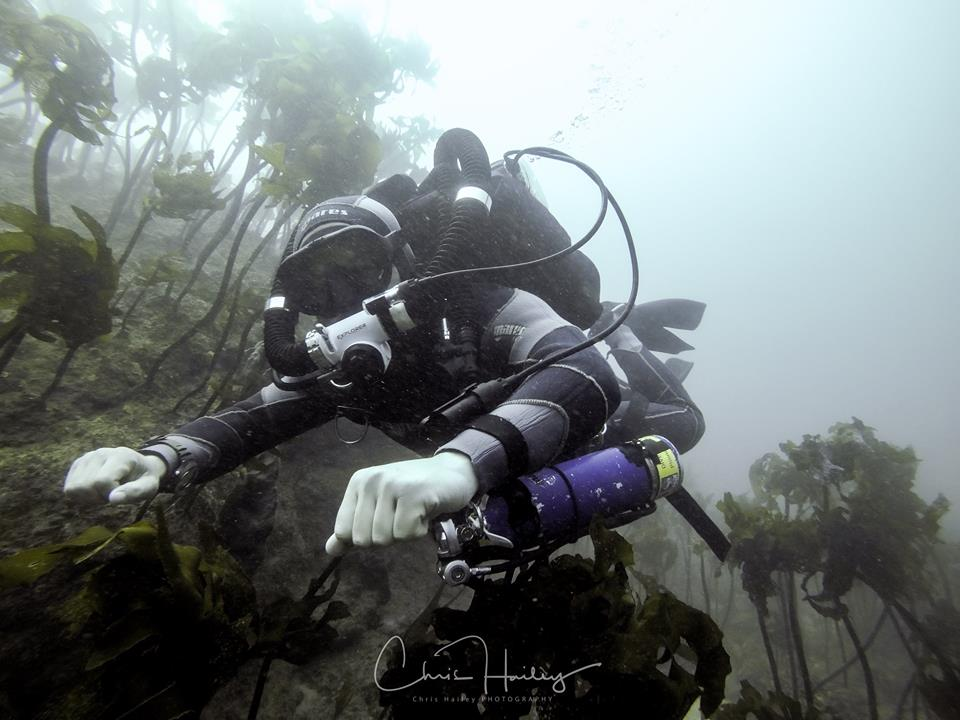 Thomas diving the Hollie Explorer Rebreather